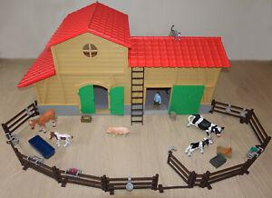 Playtive Junior Bauernhof Pferdestall Reiterhof Farm Kinderspielzeug XXL 40-Tlg
