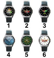 Legend of Zelda Ocarina Nintendo Games Series Unisex Analog Leather Watches