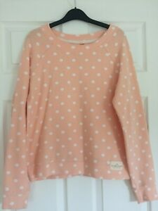 ONLY PEACH SWEAT TOP WITH WHITE SPOTS COTTON MIX MEDIUM UK 10/12