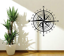 WALL STICKERS ADESIVI MURALI Auto camper Rosa Dei Venti compass custom parete