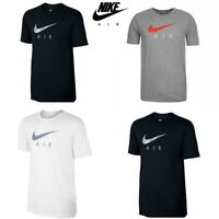 Nike T Shirts Tri-Blend Hybrid Air Logo Mens T Shirt Cotton Tee Top Size S M L X