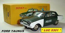 FORD TAUNUS POLIZEI VERTE #551 N°46 DE LA SÉRIE 1 PAR  DINKY TOYS / ATLAS