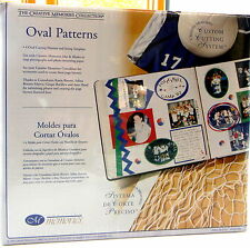 Scrap booking Creative Memories 4 Oval Cutting Patterns Sizing Template Photo