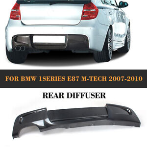 Carbon Fiber Rear Diffuser Spoile For BMW 1Series E87 M-Sport MTech Bumper 07-10