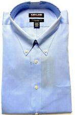 Kirkland Signature Men's 100% Cotton Non-Iron Spread Collar Dress Shirt