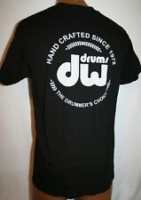 DW DRUMS Hand Crafted Since 1972 T-SHIRT M Rock Drumming