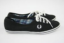 Fred Perry Canvas Plimsolls Trainers Shoes UK 7 / EUR 41