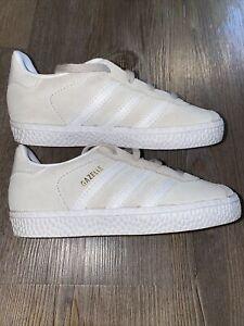 Adidas Gazelle Ortholite Toddler Size 9 Cream Suede White New