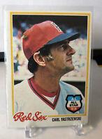 1978 Topps Carl Yastrzemski Boston Red Sox #40 Baseball Card