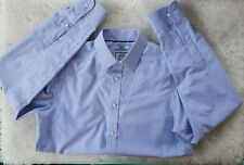 Men's Jos. A. Bank   No Iron Slim Fit Shirt  Size 15.5/35 Purple Stripe