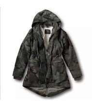 abercrombie fitch jacket women Camo S  3 n 1 camo parka outwear hollister