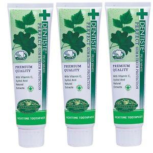 3x 160g Dentiste Plus White Toothpaste Vitamin C Xylitol Free Ship + Track