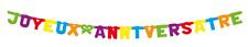 Joyeux Anniversaire Bannière Décoration Enfant Fête Guirlande Drapeaux Banderole