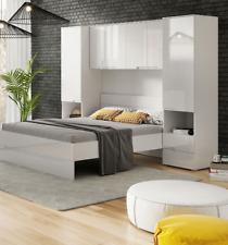 Cellini White Gloss Over Bed Storage Unit Wardrobe Over head Bridge fitment 2899