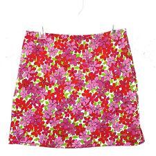 Madison Studio Womens Mini Skirt Sz 10 Pink Floral Cotton Blend