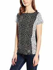 ARMANI JEANS WOMEN'S Black & White Short Sleeves Top Size S *