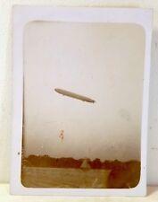 German or British airship blimp, small original photo c. 1920s, aviation