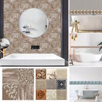 18pc/set Mosaic Tile Sticker Self-Adhesive For Kitchen Bathroom Decor Waterproof