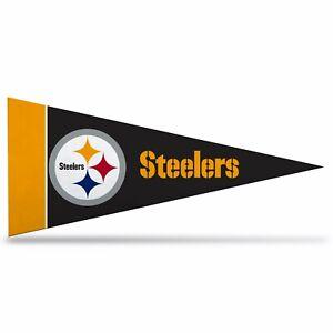 "NFL Pittsburgh Steelers Mini Pennant 9""x4"" Felt Banner Flag NEW"