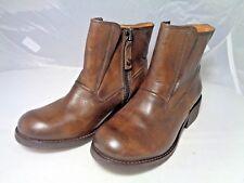 Diesel Roxydoo Women's Ankle Boots Size 6 (Eur 36) Brown Leather Zipper Casual