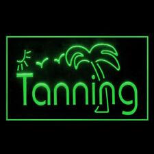 160042 Tanning Sunshine Bikini Beauty Beach Sun bath Display Led Light Sign