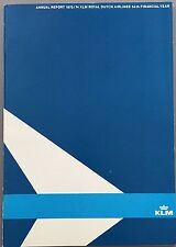 KLM ROYAL DUTCH AIRLINES ANNUAL REPORT 1973-74 ENGLISH LANGUAGE ROUTE MAP