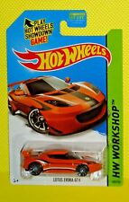 2014 Hot Wheels Kmart Days Workshop #193 Lotus Evora GT4 - Metalflake Orange