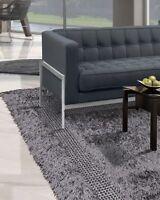 """5' x 7'6"""" Handmade Modern Shag Area Rug Carpet Gray Contemporary"""