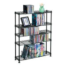 Atlantic Maxsteel 5 Tier Multimedia Rack For 275 CDs/152 DVDs & Blu-Ray In Black