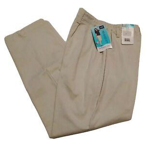 Lee Womens Khaki Pants 6SP 6 Short Petite Side Elastic  Relaxed Fit Tapered Leg