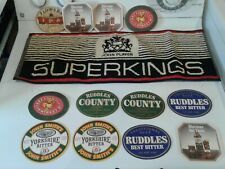 john player Superkings bar towel and beer coasters from Whales.