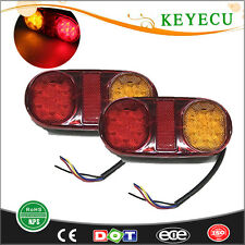 2X 12V 14Led Tail Trailer Lights for Truck Boat Ute Submersible No/Plate IP65