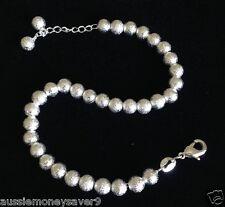 925 sterling silver p ball bead bracelet bangle charm Free gift bag adjustable