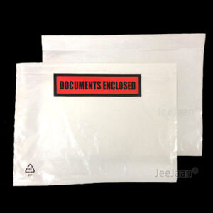 POUCHES SLIPS ADDRESS LABELING SHIPPING DOCUMENT ENCLOSED PRINTED PLAIN WALLET