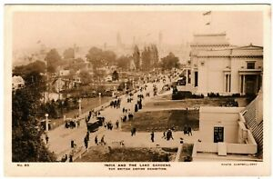 British Empire Exhibition INDIA AND THE LAKE GARDENS Real Photo Card 1924 MA766