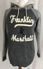 Franklin & Marshall - Gray Hoodie Hooded Sweatshirt Sweater - Women's Large