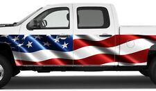 "2x AMERICAN FLAG 24""x 12 foot Rocker Panel Graphics Decal Wrap Pickup Truck"