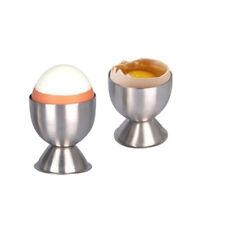 Set of 4 Egg Cups Egg Holder Serving Cups Sponge holders Stainless Steel FA3