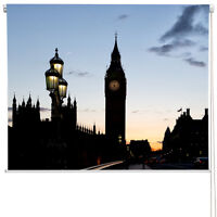 Big ben at sunset printed roller blind  Any Size