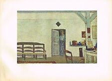 1940s Original Vintage Edouard Vuillard Interieur Offset Litho Art Print