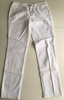 Massimo Dutti Damen Hose Weiß Neu ohne Etikett Gr. 40