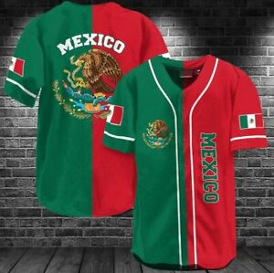MEXICO Baseball Jersey Shirt Size S- 5XL