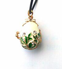 Faberge Egg Pendant White Bear