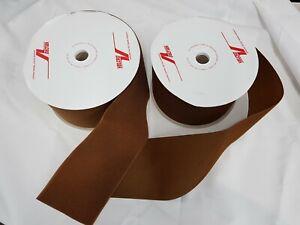 VELCRO® SEW ON HOOK AND LOOP TAPE Pair 150MM Wide Leather Brown, FREE UK Postage