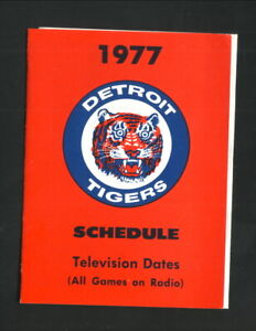 Detroit Tigers--1977 Pocket Schedule--Wickes Lumber