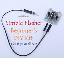 E52 Simple 2 LED 5mm Flasher Do it Yourself DIY Kit Flash Light Blinker PCB Easy