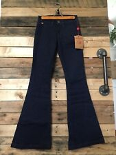 NWT Woman's TRUE RELIGION Jeans SZ 24 EMI LUXE MIDNIGHT Flare Bell Bottom Pants
