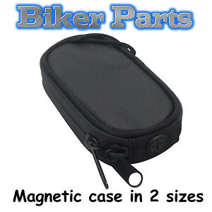 NEW SMALL  MAGNETIC SMART PHONE TANK HOLDER CARRY POUCH MOTORCYCLE MOTORBIKE