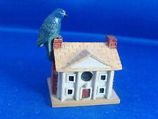 Lenox Garden Miniature Birdhouse Indigo Bunting on Plantation House