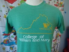 Vintage College of William and Mary Tribe Soft Thin Green T Shirt Sz M